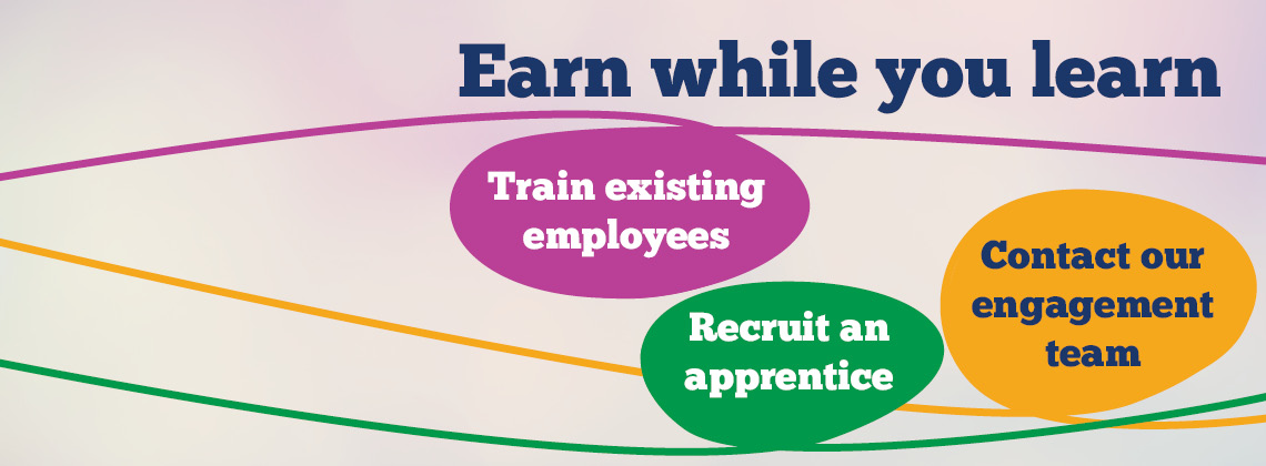 Earn while you learn, train employees and recruit apprentices in North Yorkshire.