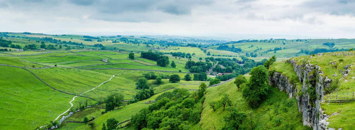 Landscape image of Malham Cove with great Highways opportunities in North Yorkshire