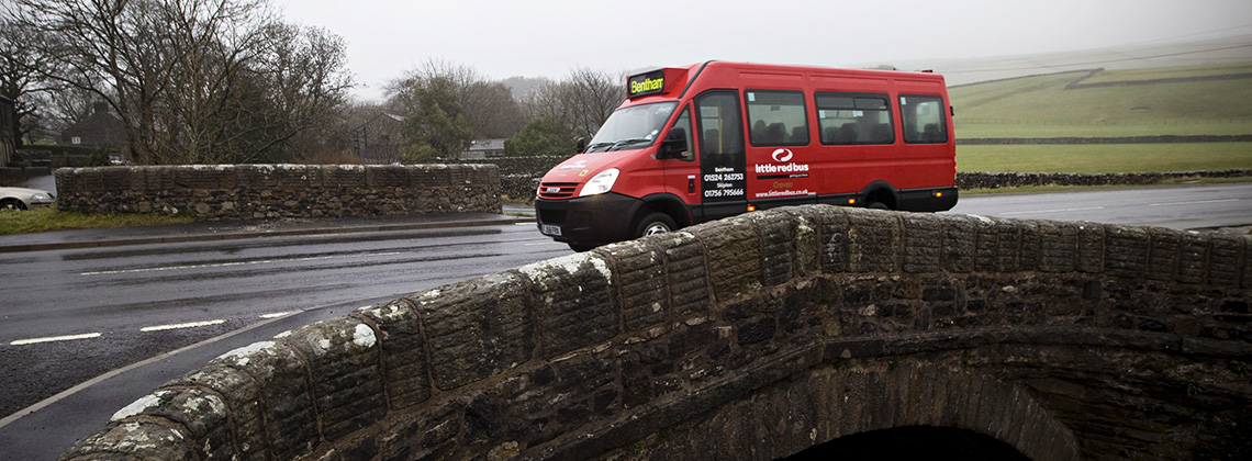 Bus in North Yorkshire.