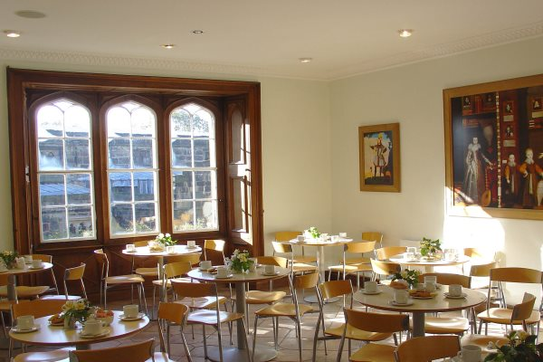 Image of a tearoom at Skipton Castle.