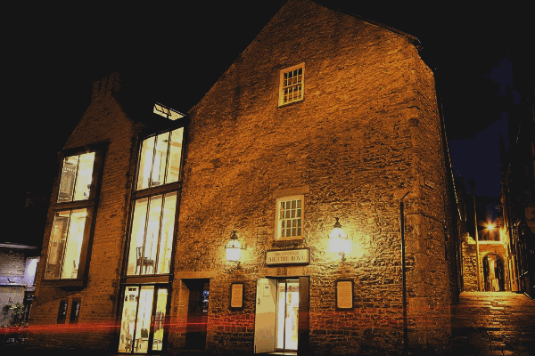 The Georgian Theatre Royal exterior at night