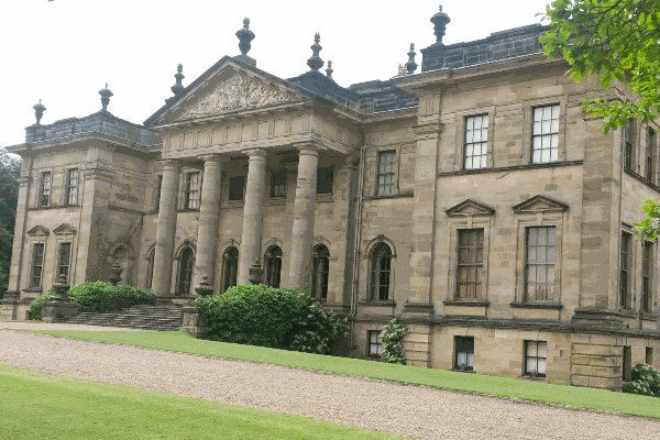 Outside of wedding venue Duncombe Park.
