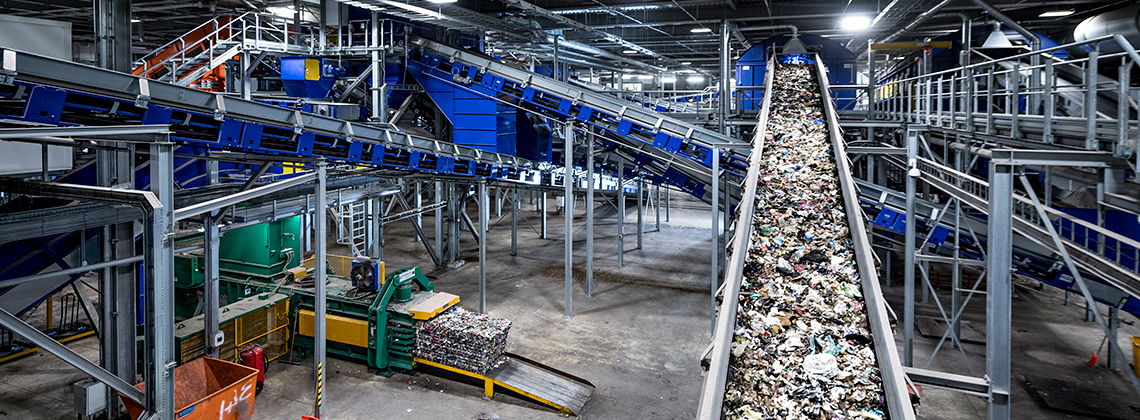 Inside Allerton Waste Recovery Park.