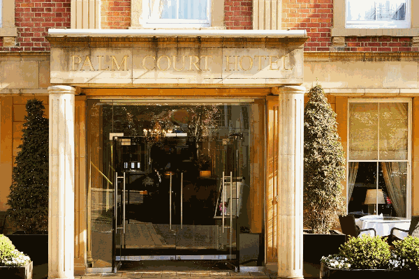 Palm Court Hotel entrance
