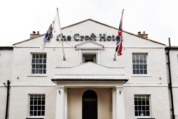 Outside of wedding venue The Croft Hotel in North Yorkshire