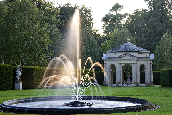 The Orangery with water fountain