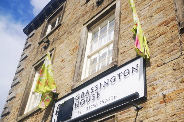 Outside of Grassington House in North Yorkshire
