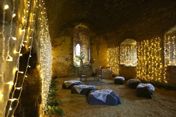 Inside Sheriff Hutton Castle wedding venue in North Yorkshire