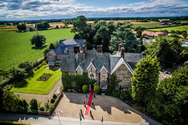 Parsonage Country House Hotel from an aerial view