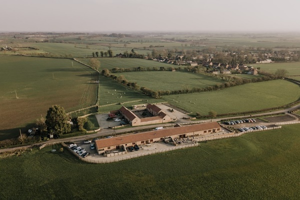 Thief Hall in North Yorkshire from an aerial view