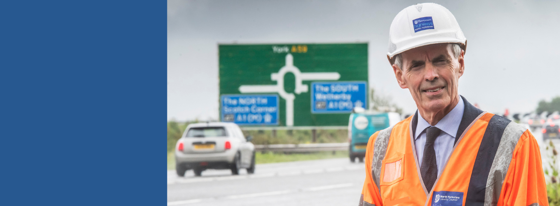 Engineer standing at new bypass.