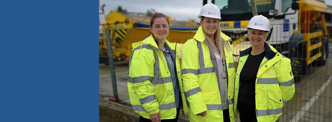 Three female engineers at one of our sites.