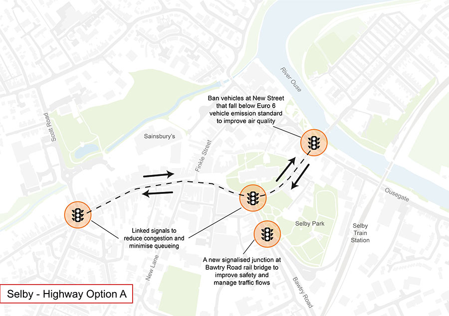 Selby highways option a