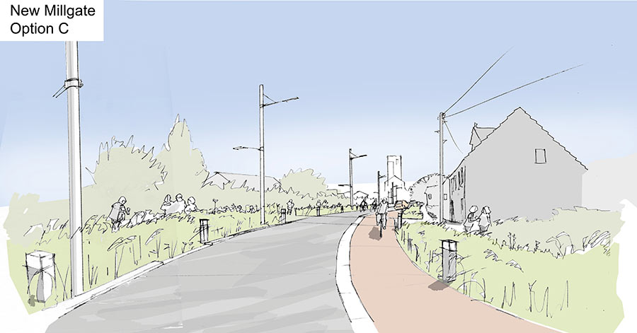 New Millgate Option C sketch