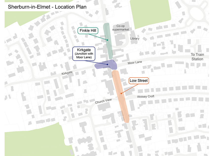 Sherburn-in-Elmet location plan