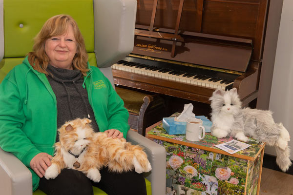 Jill Quinn with robotic cates