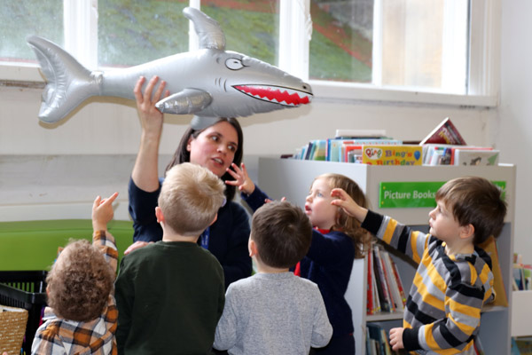 Children at Harrogate Library animal activities