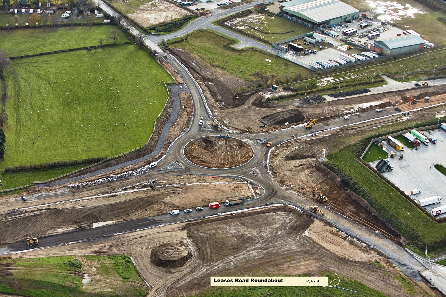 Leases Road Roundabout
