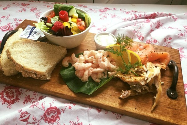 Photograph of a prawn salad from Fryton Catering Coffee House