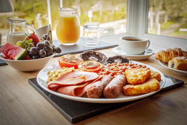 Photograph of a vegan breakfast from Peasholm Park Bed and Breakfast