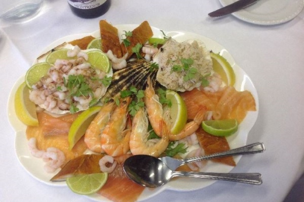 Photograph of seafood platter served by Poppy caterers