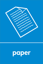 An image symbolising paper for recycling