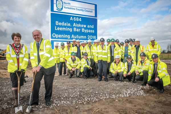North Yorkshire highways service beginning work on the Bedale bypass