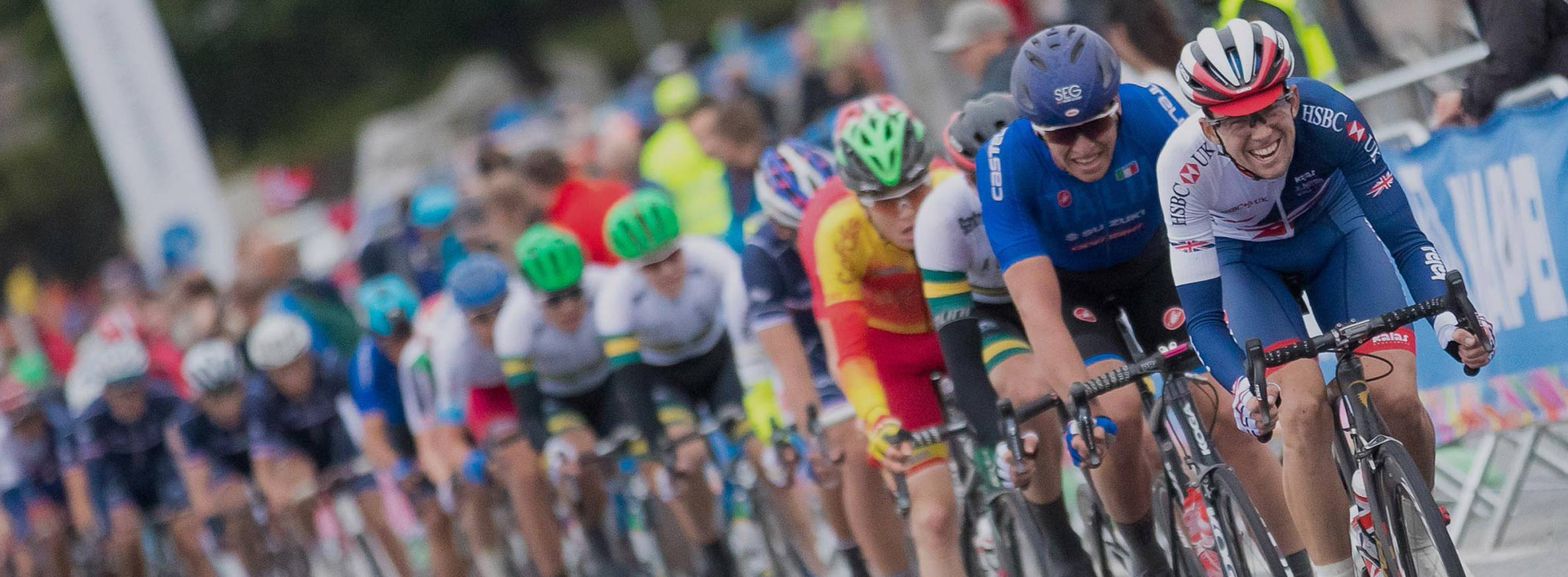 Cyclists taking part in the UCI Road World Championships.