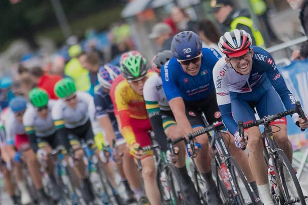 Cyclists taking part in the UCI Road World Cycling Championships which is coming to North Yorkshire