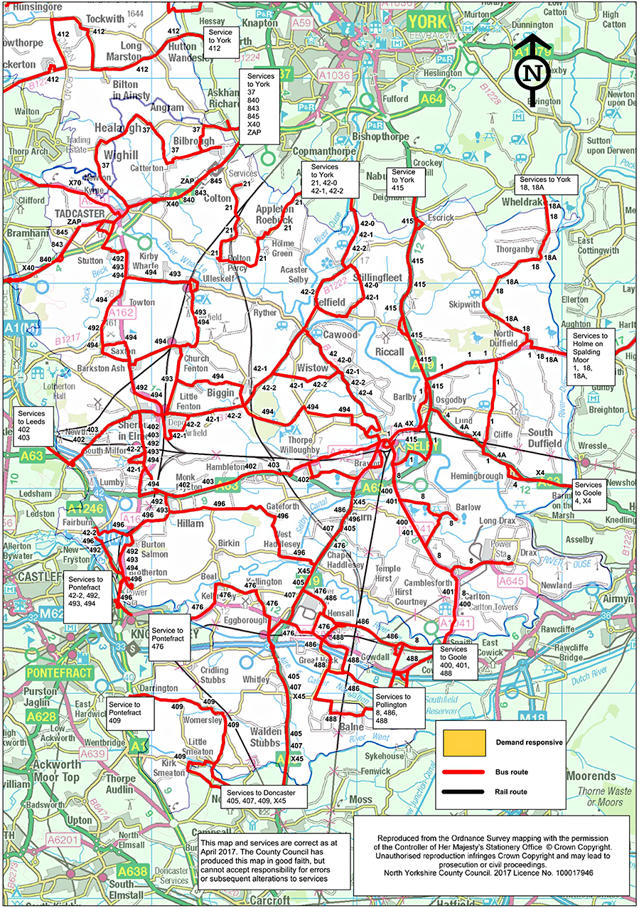Bus service changes and news  North Yorkshire County Council