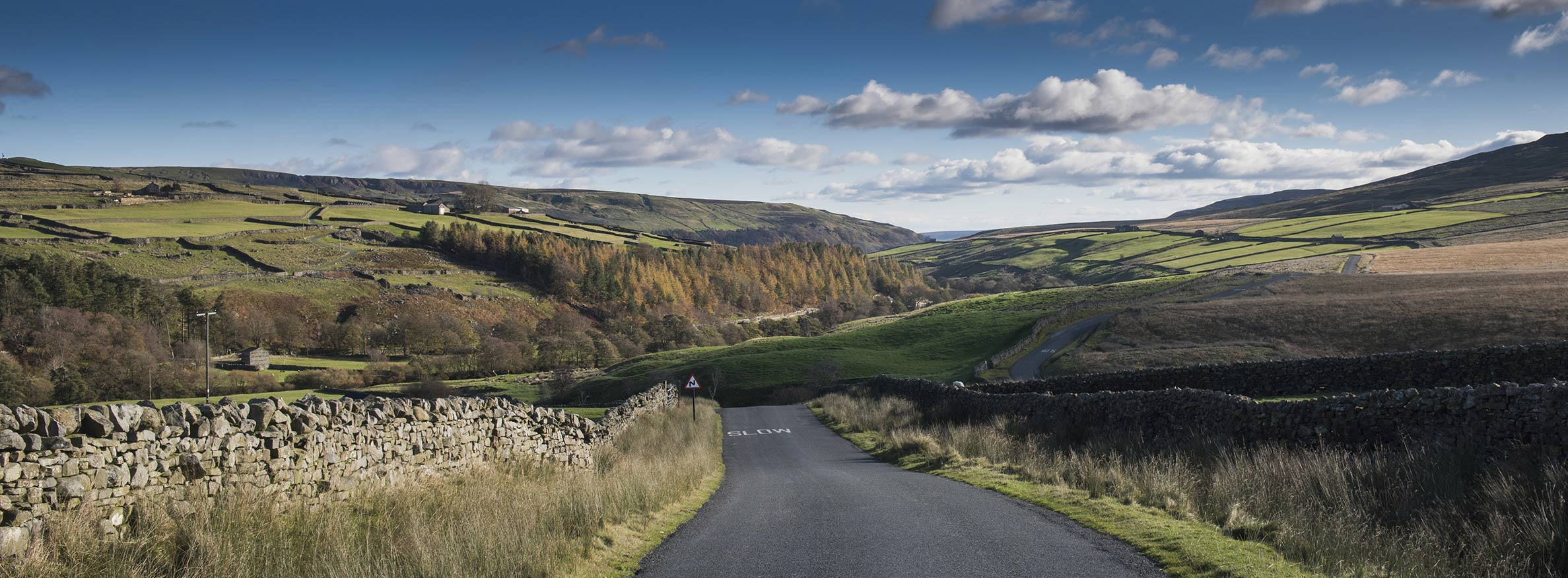 View of Arkengarthdale in rural North Yorkshire
