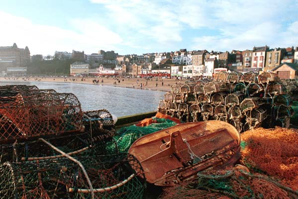Fishing equipment in Scarborough North Yorkshire.