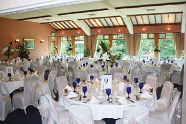 Inside wedding venue Romanby Golf & Country Club in North Yorkshire