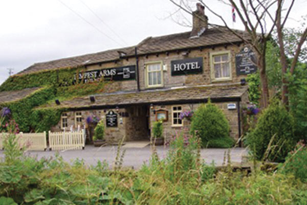 Outside of wedding venue The Tempest Arms North Yorkshire