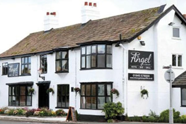 Outside of wedding venue The Angel in North Yorkshire