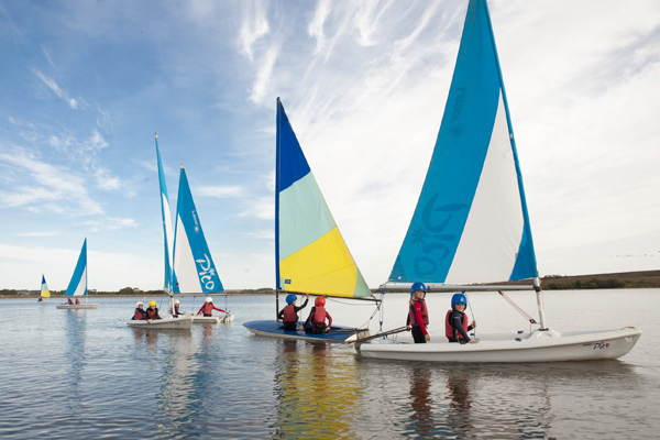 Sailing at an outdoor education centre