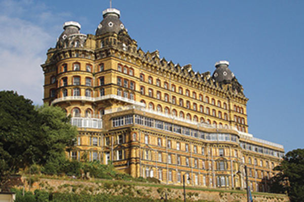 View of the Grand Hotel in Scarborough.
