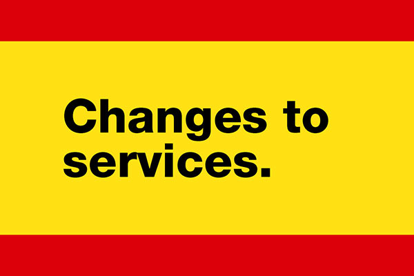 Changes to our services graphic