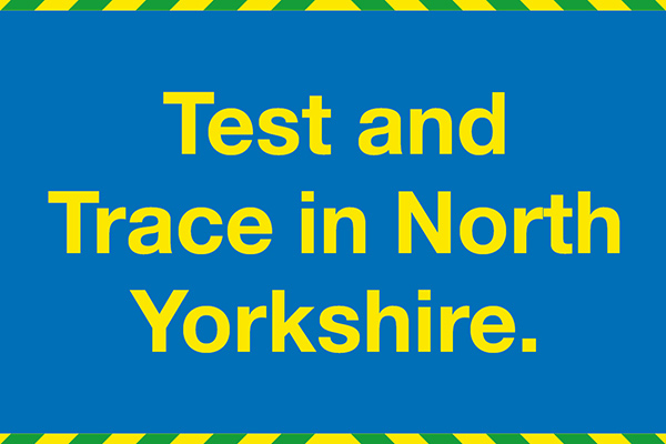 Test and trace in North Yorkshire logo