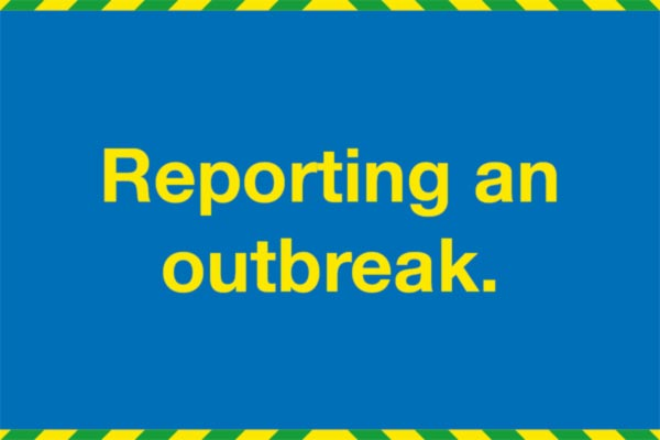 Reporting an outbreak