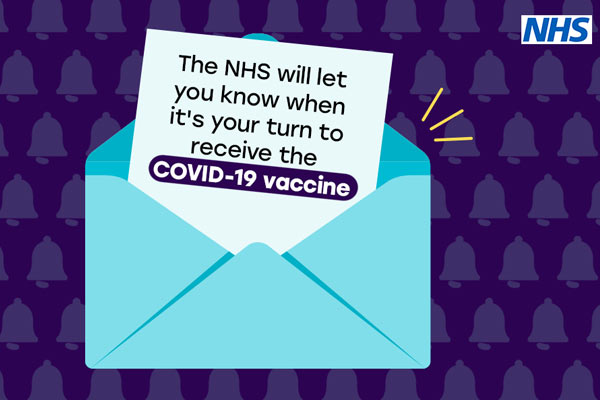 Vaccine invite from NHS
