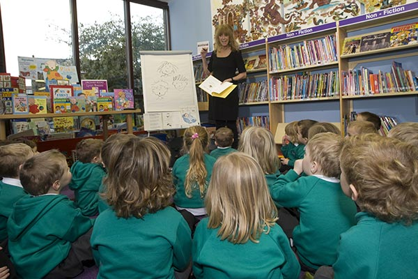 A children's story time taking place at a local library in North Yorkshire