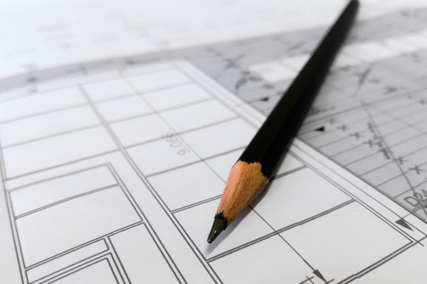Building plans subject to building control and planning regulations