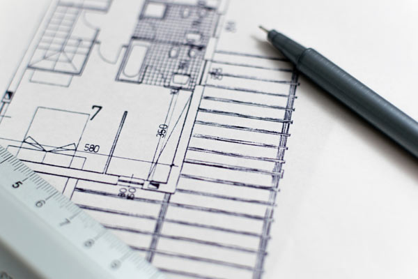 Planning drawings for residential and business planning applications.