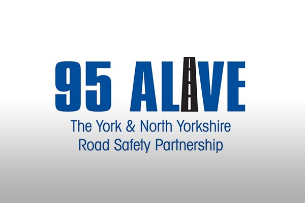 95 alive road safety partnership logo