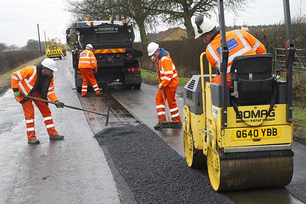 Work being completed on road