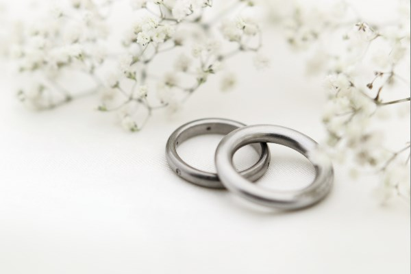 Rings representing giving notice of marriage or civil partnership