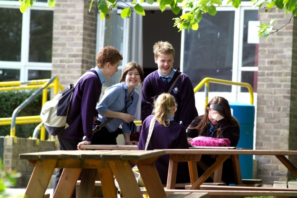 Children at North Yorkshire secondary school.