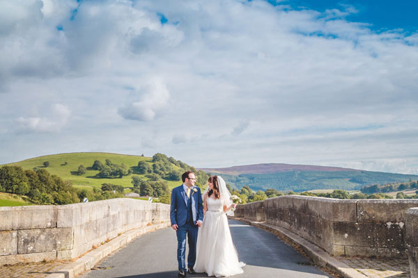 Married couple at an approved wedding venue in North Yorkshire