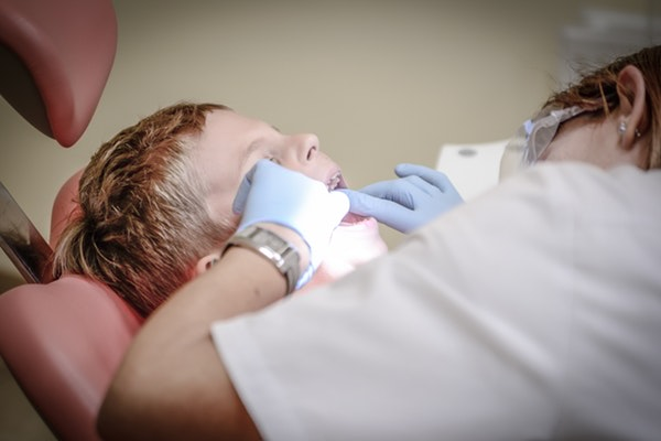 Child visiting the dentist in North Yorkshire.